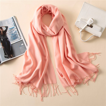 2c7391862f 2018 Luxury Brand Autumn Winter Solid Color Scarves For Women Shawls  Pashmina Pure Long Cashmere Muslim Headscarf Hijabs Muffler
