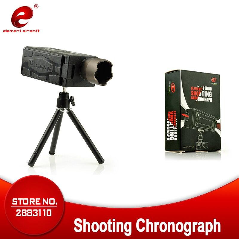 Élément tactique militaire E1000 lunette de tir chasse chronographe pliable LCD AIRSOFT chronographe (EX 236) FOE WARGAME BK