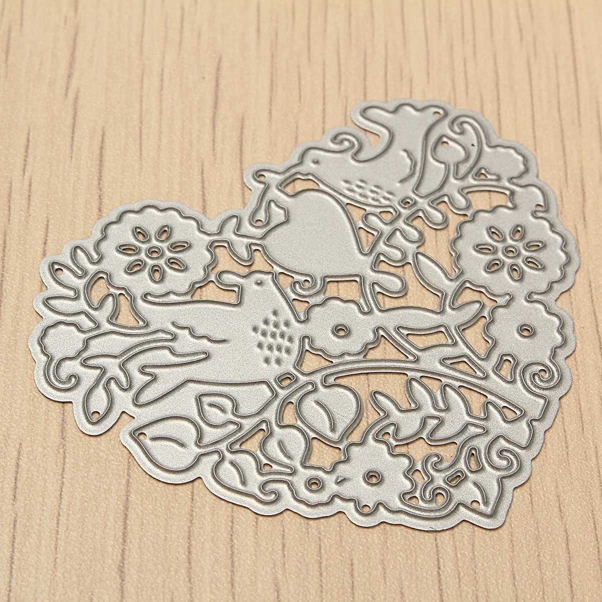 Diy heart flower die cutting dies stencil scrapbooking for Dies for paper crafting