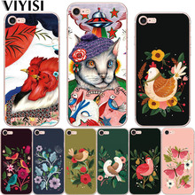 VIYISI Phone case For Apple iPhone 7 X 5 5S SE 6 6S 8 Plus Ethnic Animal Soft TPU Back Coque Cover Shell Fundas Etui Capinha