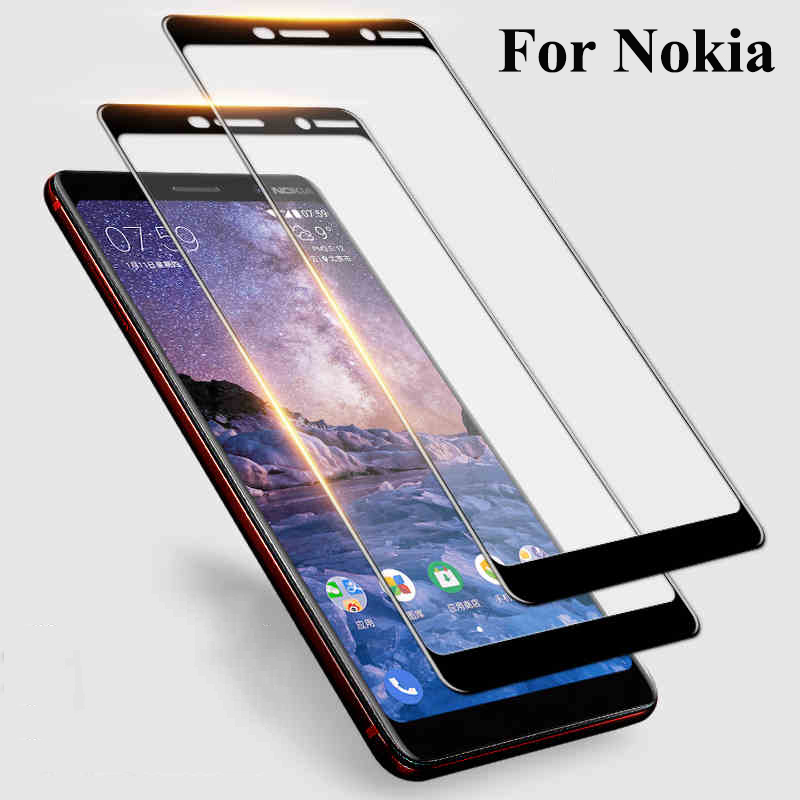 Full Cover Glass for Nokia 7 Plus 6 2018 8 5 3 tempered glass for cell phone .nokia 6 Case Nokia8 Nokia7 Nokia6 Nokia5 Nokia3