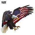 YJZT, 14 см * 11,8 см, автомобильные аксессуары, мотоциклетная наклейка в виде американского Орла, автомобильная наклейка из ПВХ 6-0308