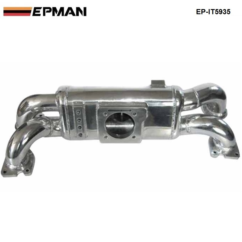 EPMAN - For Subaru WRX EJ20 Cast Aluminum Turbo Intake Manifold Polished JDM high Performance EP-IT5935 epman universal 2 25 inch 57mm turbo intercooler aluminum pipe silicone hose kit black length 600mm for bmw e60 ep lgtj57 600