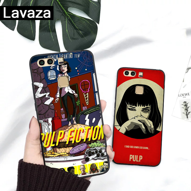 Lavaza PULP FICTION MOVIE POSTER Silicone Case for Huawei P8 Lite 2015 2017 P9 2016 Mini P10 P20 Pro P Smart 2019 P30 in Fitted Cases from Cellphones Telecommunications