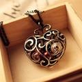 Women Fashion Rhinestones Love Heart Pendant Necklace Jewelry Xmas Gift