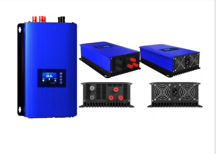 Onde sinusoïdale Pure 2000W 48V 96v 110v 120v 220v sur grille vent onduleur bult dans contrôleur grille cravate onduleur wifi LED option d'affichage
