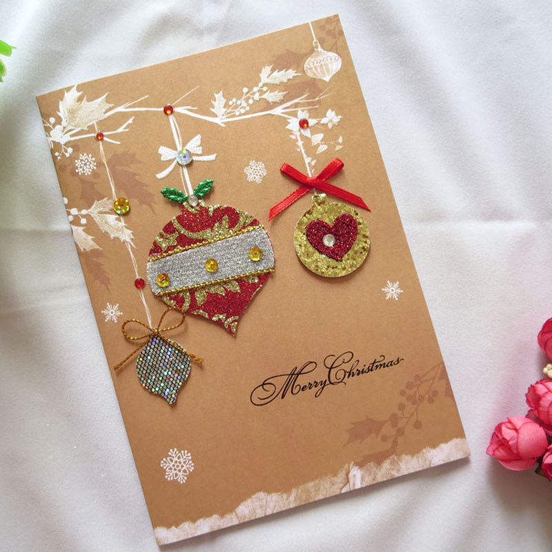 10 pcs High quality Handmade Merry Christmas Bell Cards Cute Gifts ...