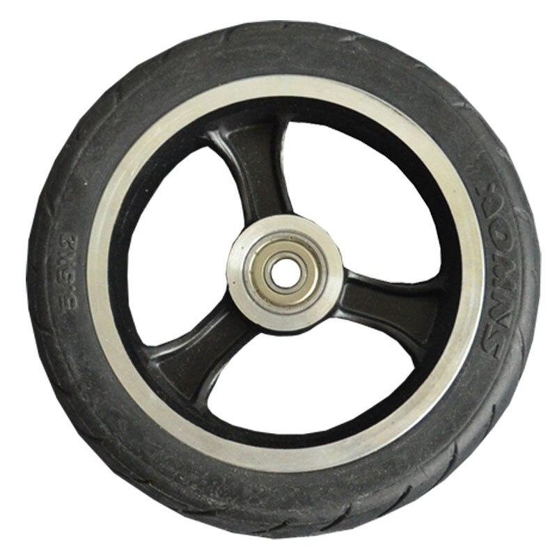 Дешевые 5,5 дюймов скутер ПУ колес и шин для коляске переднего колеса с черным колеса скутера фабрики высокого качества оригинальные колеса ...