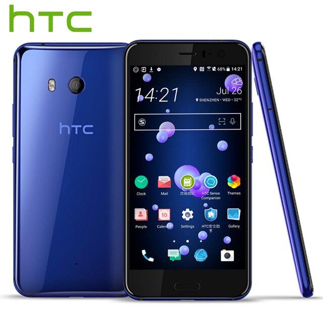 Оригинальный HTC U11 4 г LTE мобильный телефон Snapdragon 835 Octa core IP67 Водонепроницаемый 4/6 ГБ Оперативная память 64 /128 ГБ Встроенная память 5.5 дюймов 2560x1440 P телефон