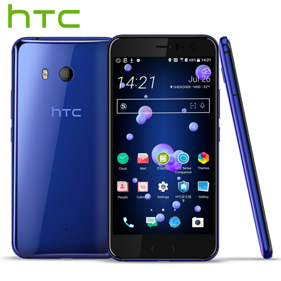 Original HTC U11 4G LTE Mobile Phone Snapdragon 835 Octa Core IP67 Waterproof 46GB RAM 64128GB ROM 5.5 inch 2560x1440p Phone