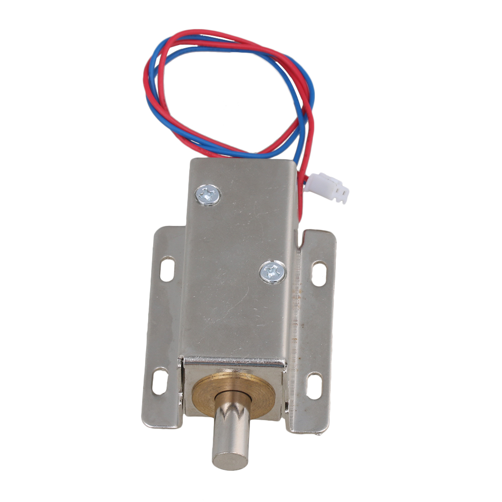 Bqlzr Dc12v 06a 10mm Stroke Tfs A21 Silver Cabinet Door Electric Junction Box Wiring Bq Lock Assembly Solenoid Round Head Latch In Locks From Home Improvement On