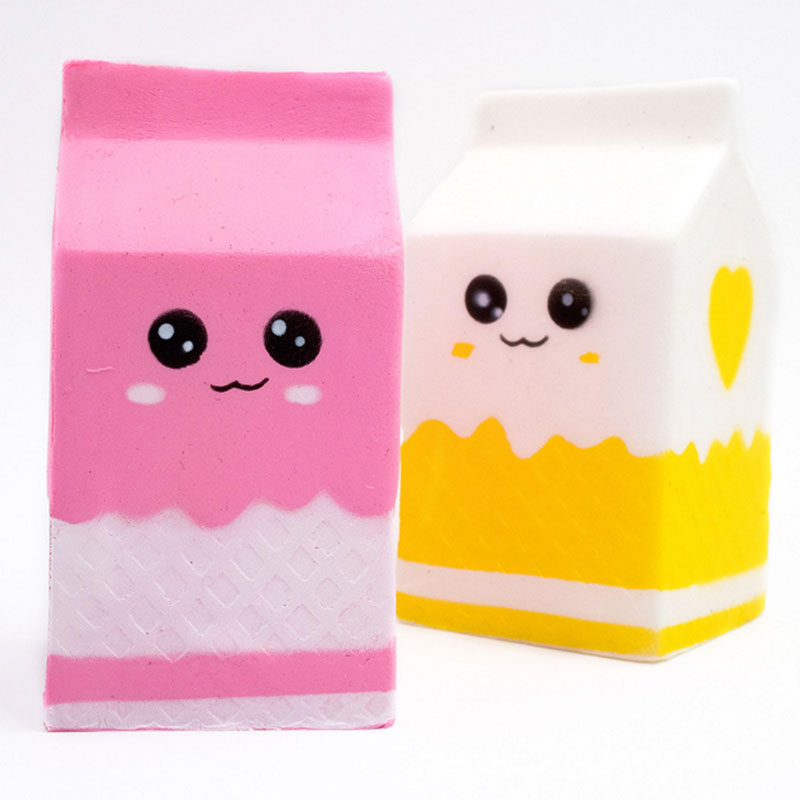 Squishy Milk Bottle Can Box Squeeze Soft Slow Rising Roll Squishy PU Cute Antistress Slime Toys Gift Kawaii Stress Reliever Toys