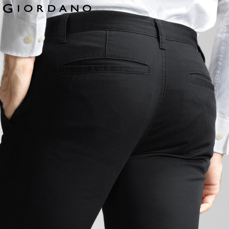 Giordano Men Brand Khaki Pants Slim Taper Quality Trousers Cotton Casual Modern Pantalones Hombre Social Masculina