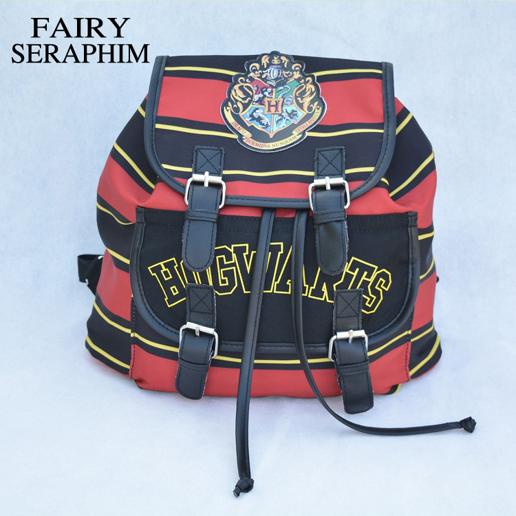 FAIRY SERAPHIM Harry Potter Backpack Printing Stripped Canvas Cartoon Children School bag mochila feminina Backpacks harry potter