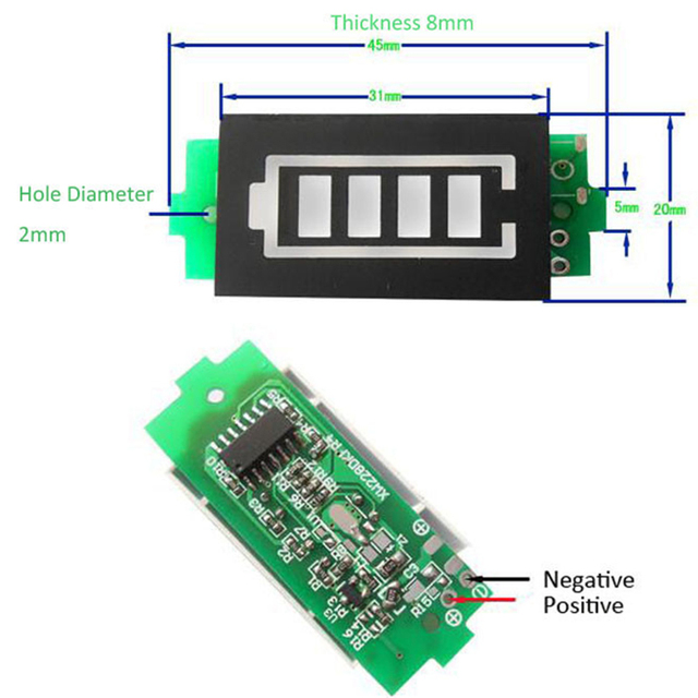 1S 2S 3S 4S 6S 7S Series Lithium Battery Capacity Indicator Module Display Electric Vehicle Battery Power Tester Li-po Li-ion 3