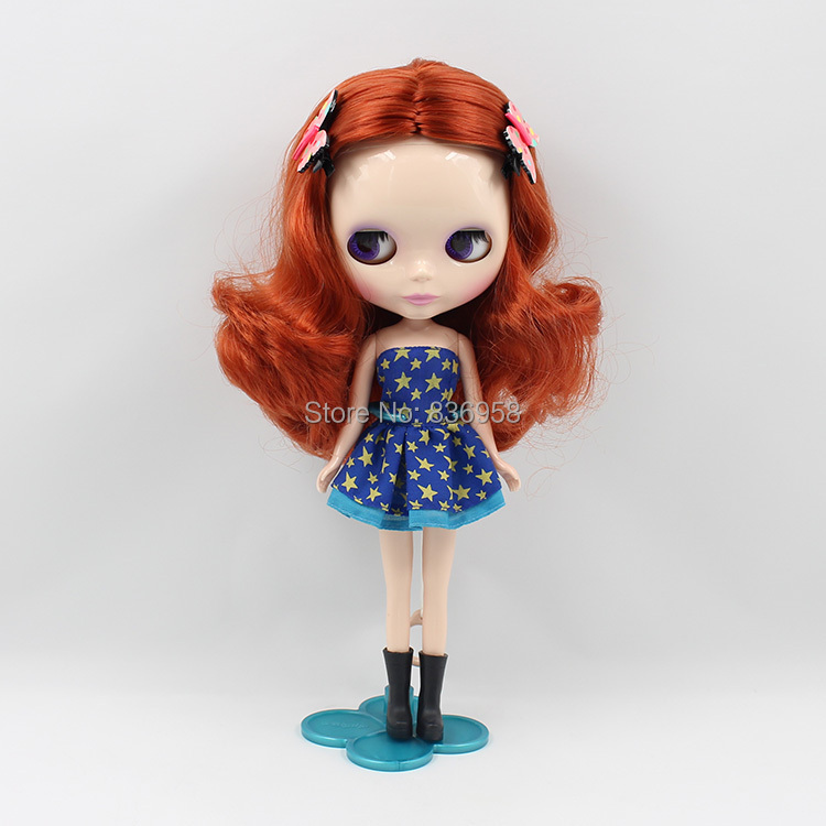 free shipping blyth doll icy licca body deep Red/brown Hair 1207 normal body toy gift 1/6 30cm цена