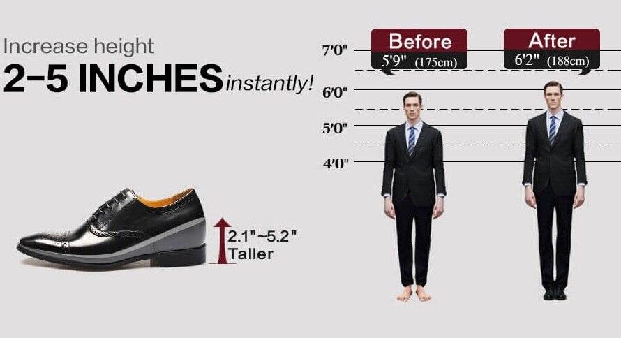 Casual Tall Hidden Heel Men Shoe