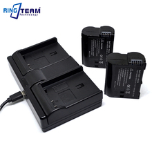 2x EN EL15 EN EL15a Battery 1x Dual Charger 3 In 1 for Nikon Camera D600