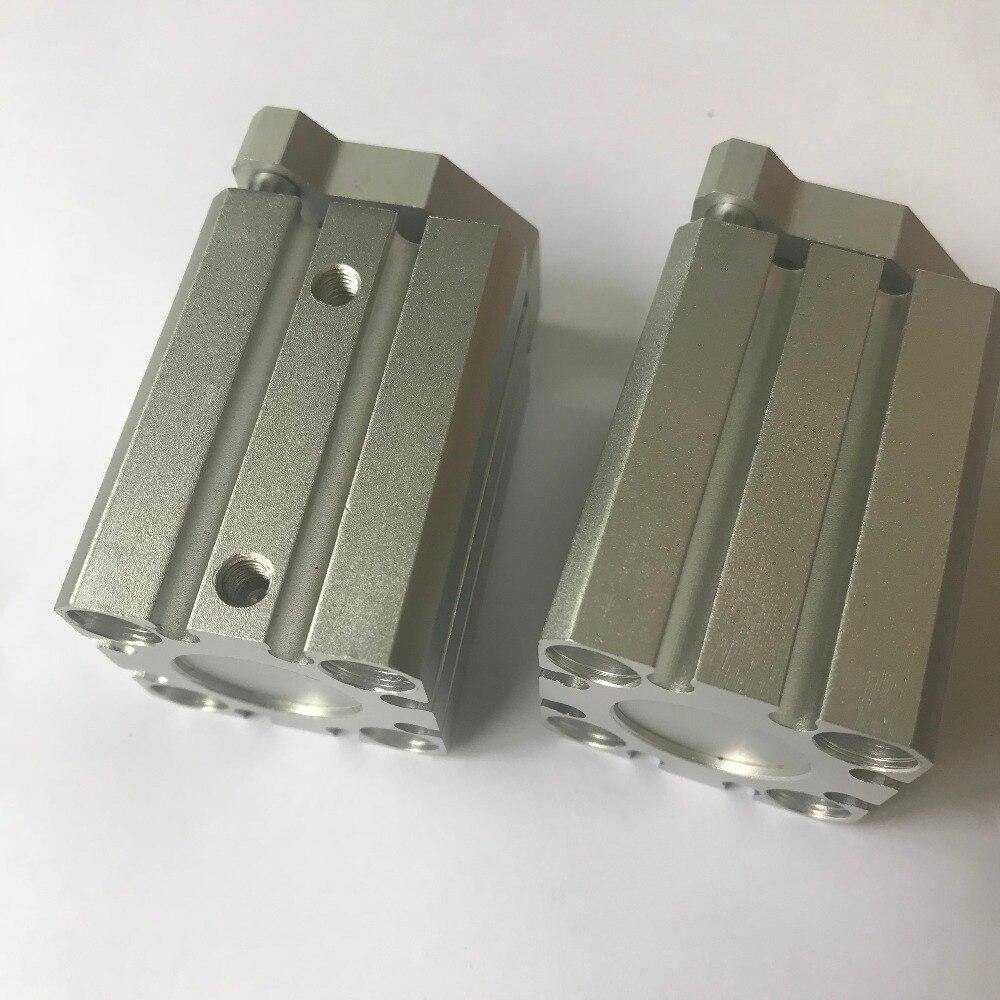 bore 20mm X 75mm stroke SMC Pneumatics CQM Compact Cylinder CQMB Compact Guide Rod Cylinder CQMB20-75