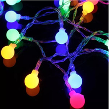 New 20m 200 LED Waterproof Colourful Ball String Fairy Light Wedding Party Holiday Decor