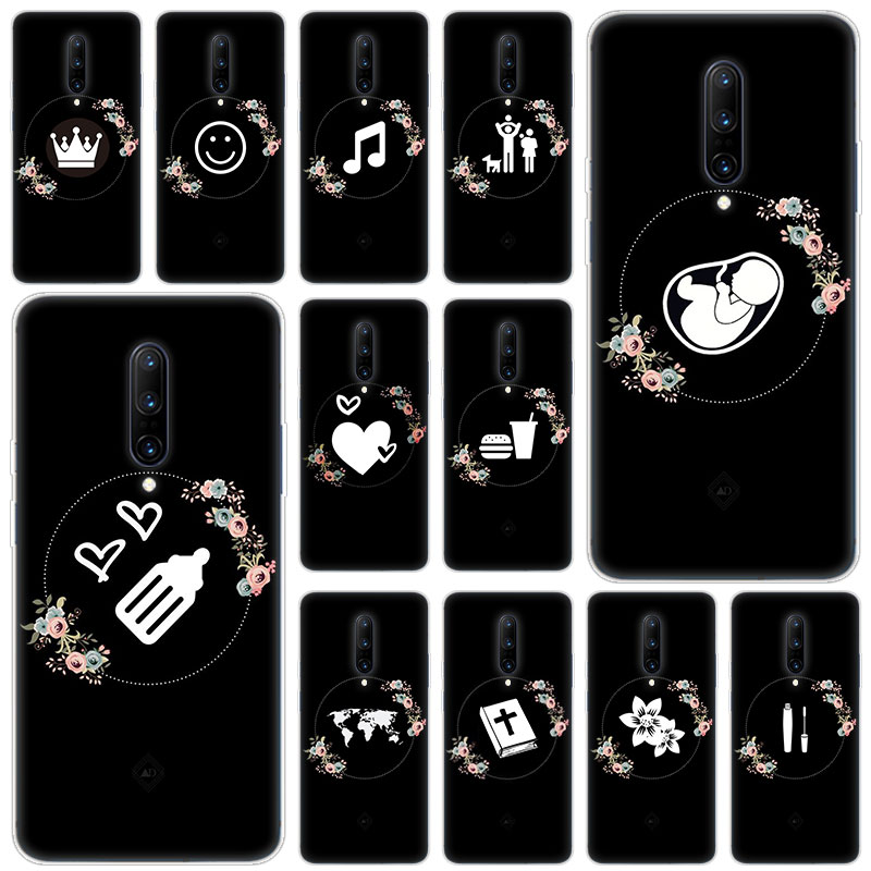 Hot Baby girl black art highlights Soft Silicone Fashion Transparent Case For font b OnePlus b