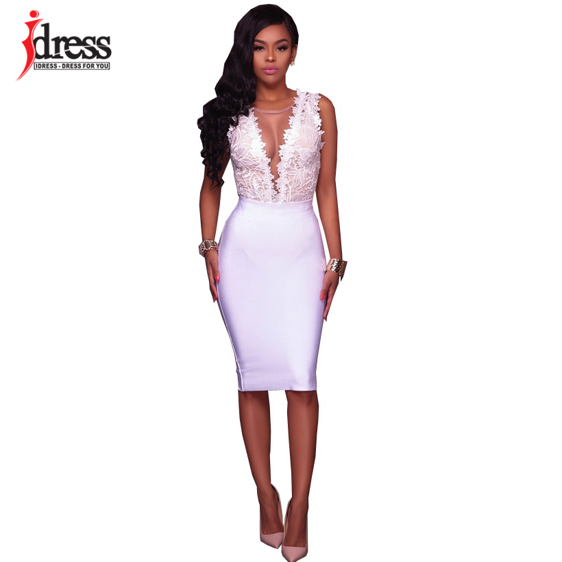 IDress Fashion 2018 New Lace Jumpsuit Women Summer Short Bodycon Playsuit Sexy Backless Mesh V Neck Overalls Party Lace Bodysuit (3)