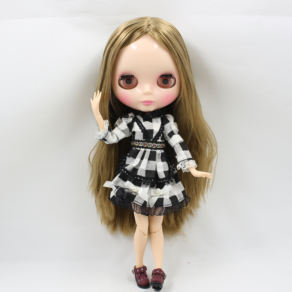 ICY Factory Blyth Nude Doll Series No 230BL0662 Brown straight hair flesh skin JOINT body Neo