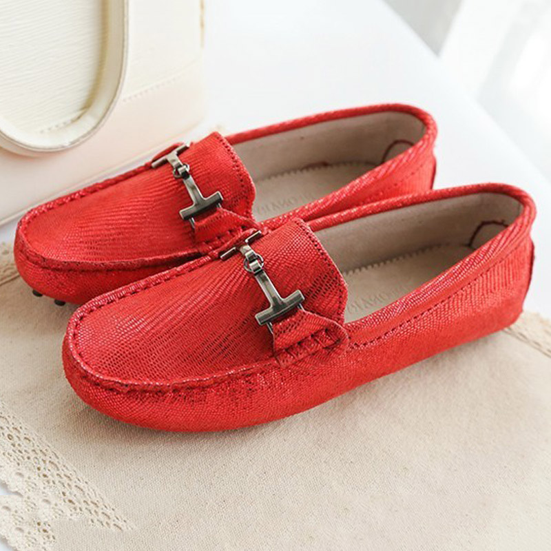 Shoes Loafers Moccasin Designer Breathable Genuine-Leather Casual Fashion Women New
