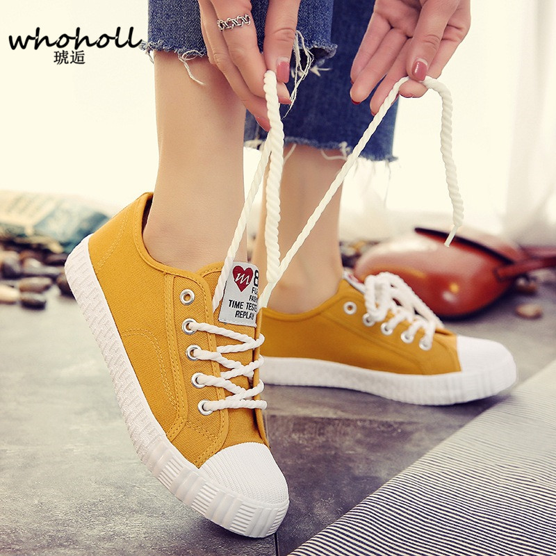 Women Canvas Shoes Casual Lace-Up Cute Spring Candy Colors Ladies Flats White Shoes Woman Vulcanize Shoes Women Student Shoes выпрямитель для волос imetec 11249