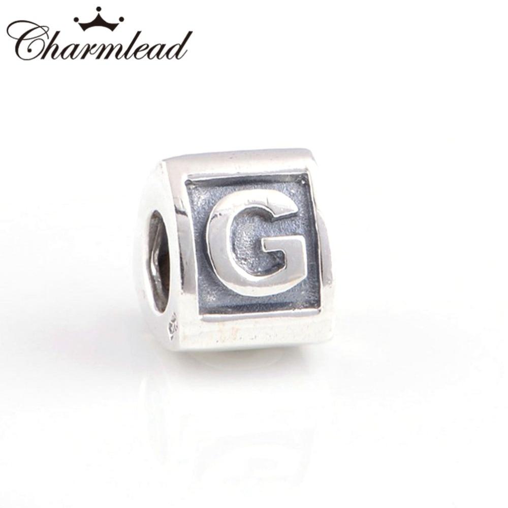 charm pandora originale lettera g