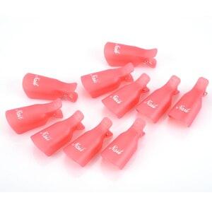 Image 4 - OYAKOM 5 adet Oje Çıkarıcı Dayanıklı Plastik Nail Art Kapalı Islatın Kap Klip UV Jel Cila Sökücü Wrap Aracı nail Art İpuçları