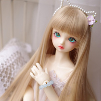 1PCS Blond Straight BJD Wig Long 3 1 4 Wig BJD Dolls