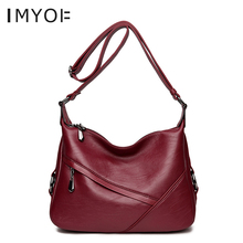 IMYOK Leather Women Bag Tassel Designer Genuine Leather Shoulder Bag Large Capacity Women Handbag Soft Tote Bags C15