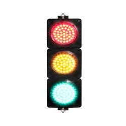 DC24V PC carcasa personalizada rojo amarillo verde 100mm Luz de señal de tráfico para la venta
