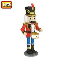 Nutcracker Soldado Eric LOZ Diamante Building Blocks Toy Figura 28 CM grande Brinquedo de DIY Para A Idade 14 + 1560 pcs 9039 Alemanha Natal presente