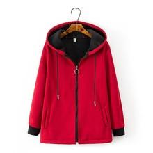 Fashion Plus size 4XL Autumn Winter Compound suede Jackets Women Hooded Short Co