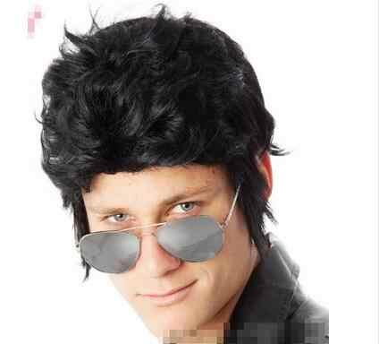 Мужчины Элвис Пресли черный короткие волосы парик оптовая ветер символов играть