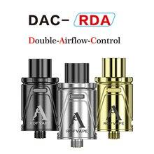 ใหม่เดิมRofvape DAC Rdaเครื่องฉีดน้ำการควบคุมการไหลของอากาศคู่Rdaฉีดน้ำRebuildableบุหรี่อิเล็กทรอนิกส์ปากกาVape Rdaถัง