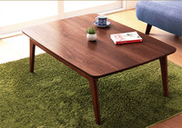Мебель для дома Kotatsu стол из массива ясеня Японский современный стиль гостиная низкий подогреваемый пол журнальный столик деревянный