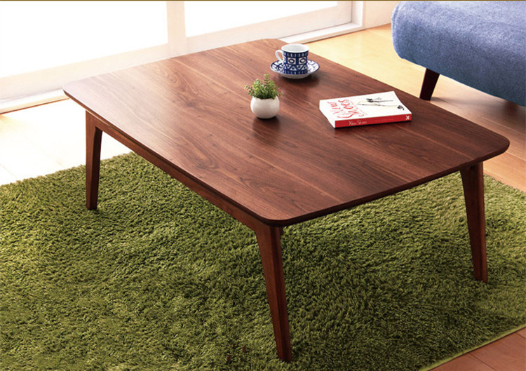 Home Furniture Kotatsu Table Wood Wanlut Rectangle 105cm Japanese Modern Style Living Room Low Heated Floor Coffee Table Wooden