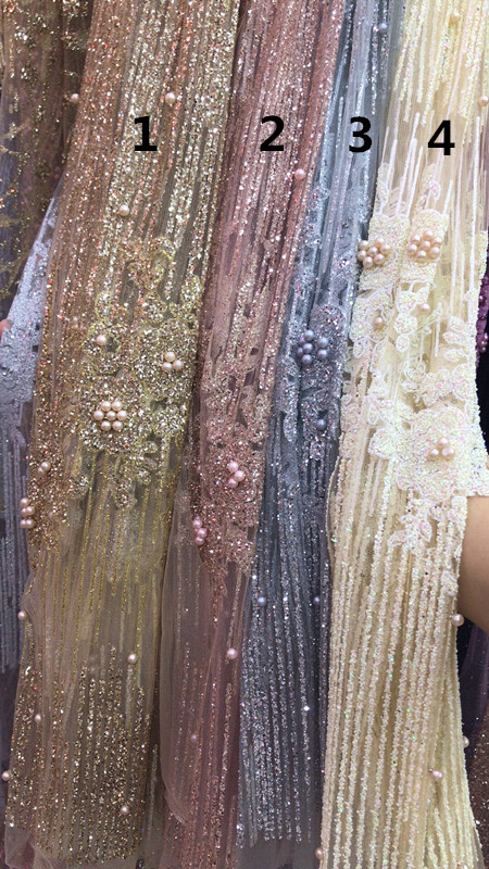 Ivory Spangle Tulle Diamante Dress Net Sequins Fabric Material Tutu 150cm wide