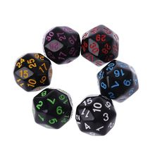 6 Pcs/Set Game Dice 20 Sided Multi-color Creative Party Games High Quality Polyhedral For Dungeon D&D Dragon Desktop Table Games steel d dangerous games isbn 9781509800124
