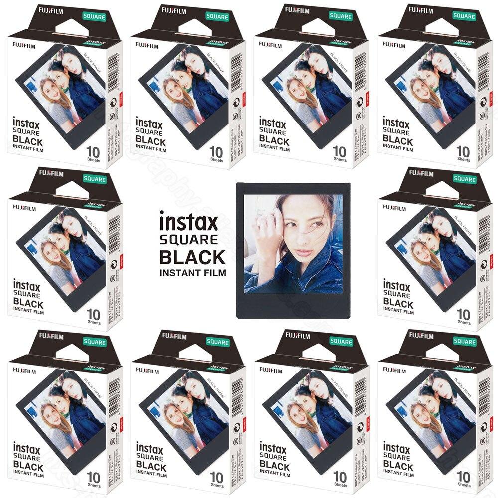 10-100 Feuilles Fujifilm Instax Carré Instant Film Noir pour Fuji SQ10 SQ6 Caméra, smartphone Partager SP-3 Imprimante, Photo Album, Cas