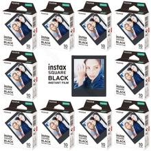 10-100 Sheets Fujifilm Instax Square Instant Film Black for Fuji SQ10 SQ6 Camera, Smartphone Share SP-3 Printer,Photo Album,Case