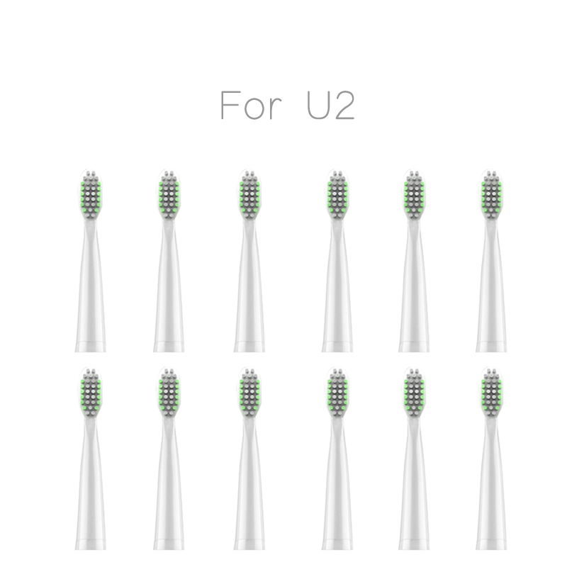 Toothbrush heads Replacement Heads For Lansung U2 Tooth Brush Oral Hygiene lansung U1 upgraded electric toothbrush heads 5 1pack eb 25a model replacement electric toothbrush head eb25 cleaning tool fit for braun oral b tooth brush heads