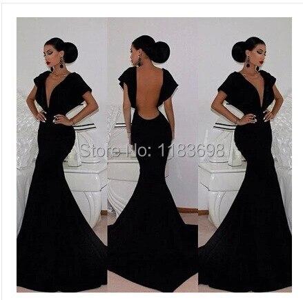 Черные пикантные платья подружек невесты с открытой спиной vestidos de gala vestidos largos de fiesta mujer vestidos de fiesta