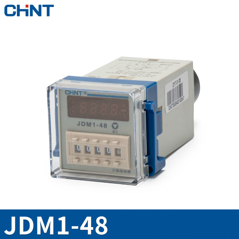 CHINT Count Relay Number Show Electronics Type JDM1-48 Counter 220V Counter 11 Foot ac380v panel mount 8p 1 999900 count range digital counter relay dh48j dpdt