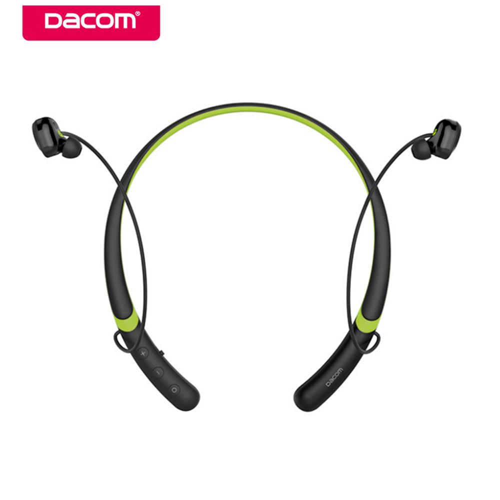 Dacom L02 Waterproof Bluetooth Headset Bass Earphone Sport Wireless Headphone Handsfree Earbuds with Mic for iPhone 6/7/8 Xiaomi lymoc v8s business bluetooth headset wireless earphone car bluetooth v4 1 phone handsfree mic music for iphone xiaomi samsung