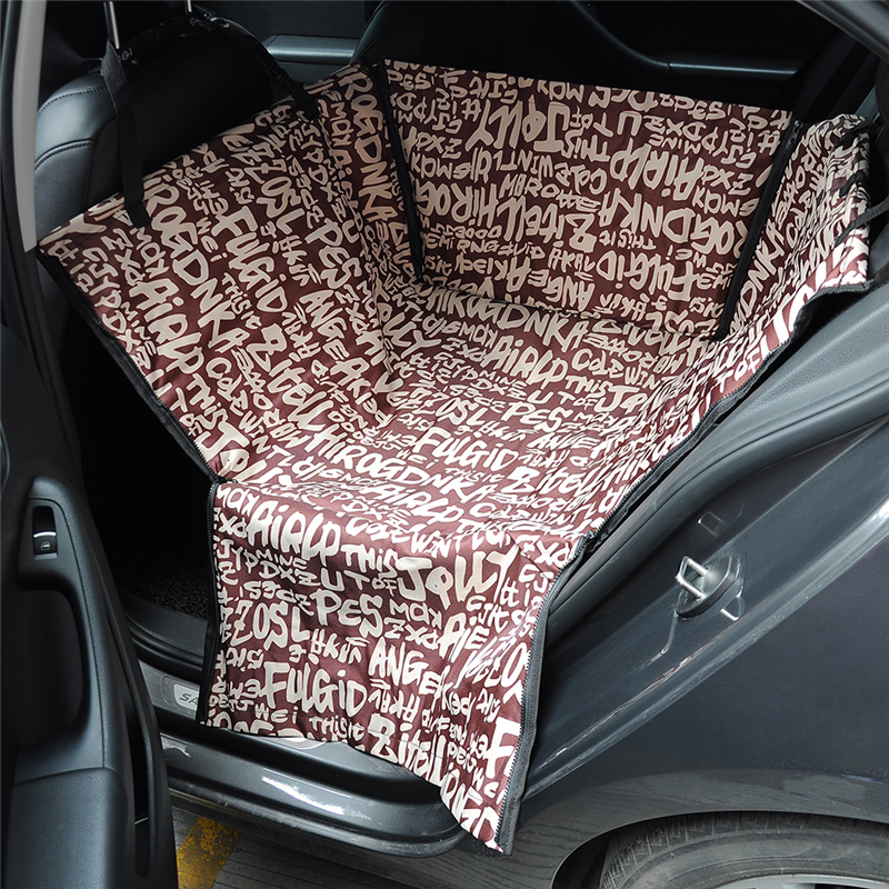 60cm x 50cm x 35cm Pet Dog Car Seat Cover for Single Rear Bench Seat Waterproof Hammock Style Outdoor Car Seat Cover for Dogs
