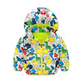 2016 New Brand Softshell Jacket Kids Coat Active Hooded High Quality Baby Boy Spring Jackets Cartoon Printing Kids Clothes